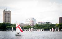 Sailboats in the Charles River