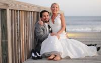 nc-beach-wedding-couple-on-boardwalk