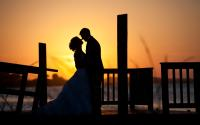 nc-beach-wedding-sunset-silhouette