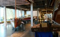 first floor exhibits at the Maritime & Seafood Industry Museum