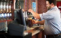 Blue Stallion Xavier Pouring Beer