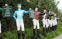 Colorful Jockey Statues at Keeneland