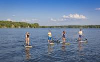 Paddle Boarding on Lake Sinclair