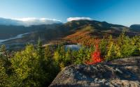 Heart Lake and Algonquin Peak from Mt. Jo