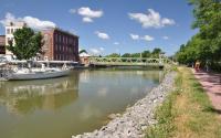 Brockport Boat Bridge Cyclists