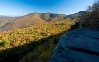 Hiking trial to Giant Ledge offering views of Wittenberg and Slide Mountains. 835