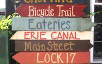 LittleFalls Canal Place Signpost