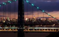 View of Manhattan through the George Washington Bridge.