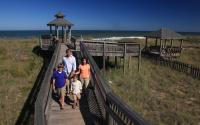 Family at Beach Access