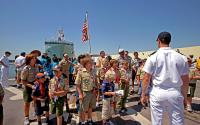 Scouts tour Navy ship during Fleet Week