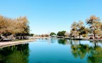 West Wetlands pond ramada