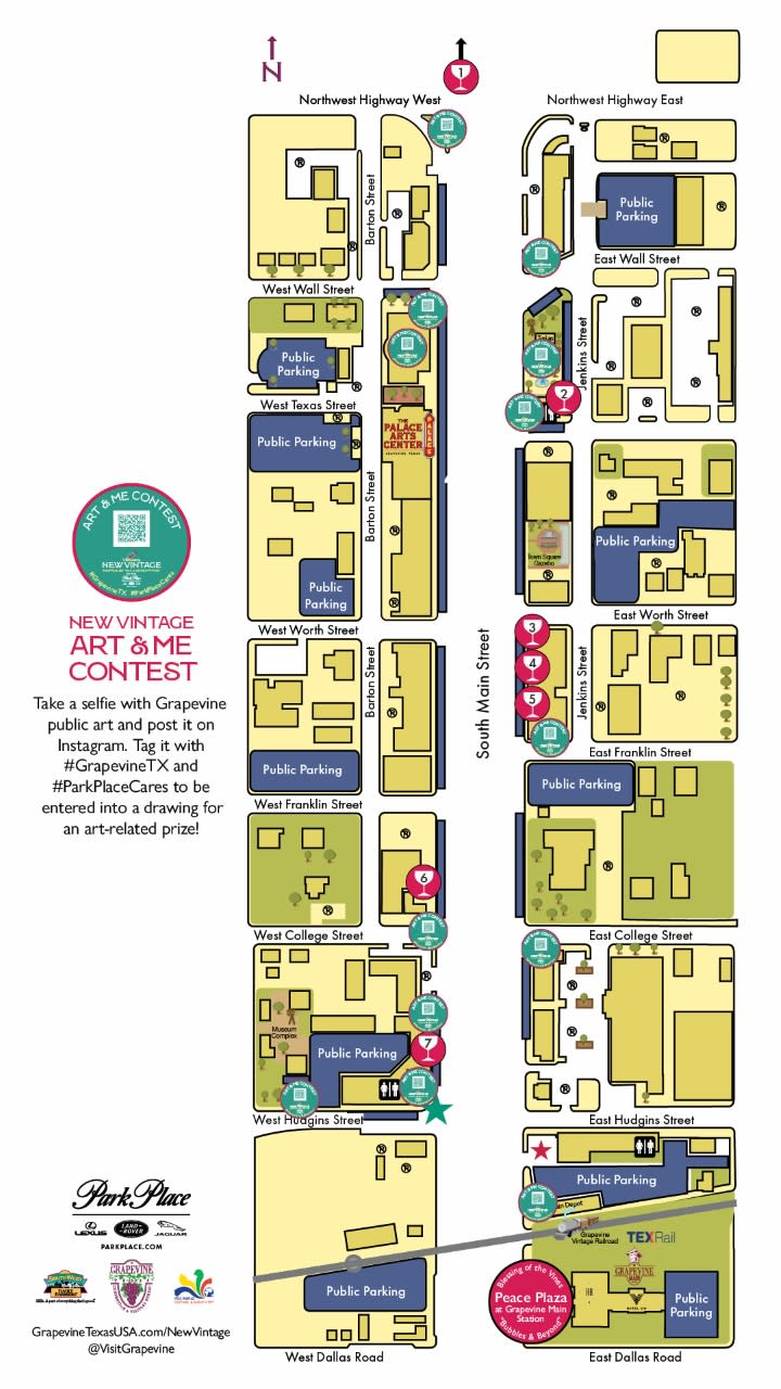 New Vintage Art & Me Contest Map