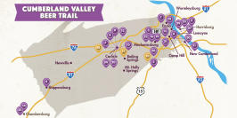 Cumberland Valley Beer Trail Map