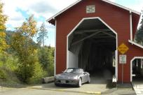 Driving Through Office Covered Bridge by Meg Trendler