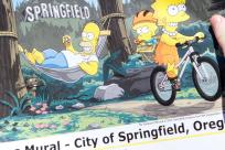 Simpsons Mural by Maria Peters