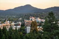 Downtown Eugene Skyline at Dusk by Brandon Fralic