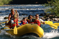 River Rafting the McKenzie River with TnT Whitewater Rafting