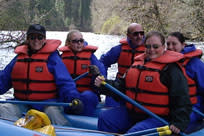 Life Jackets Rafting by Jeannine Heidenreich