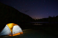 Camping Under the Stars at Linton Lake by Wyatt Pace