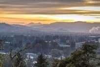 Autzen Stadium Sunrise From Skinner Butte by Eugene, Cascades & Coast