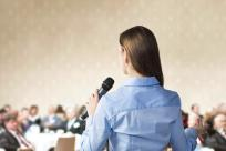 Speaker at a conference
