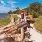 Carolina Beach State Park walking dog