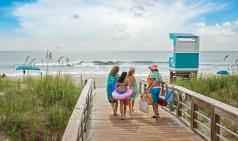 Family on Boardwalk
