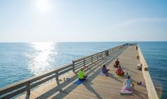 Yoga on The Wrightsville Beach Pier