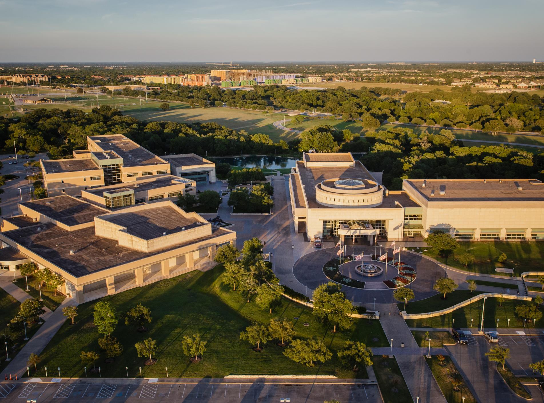 Bush Library Aerial
