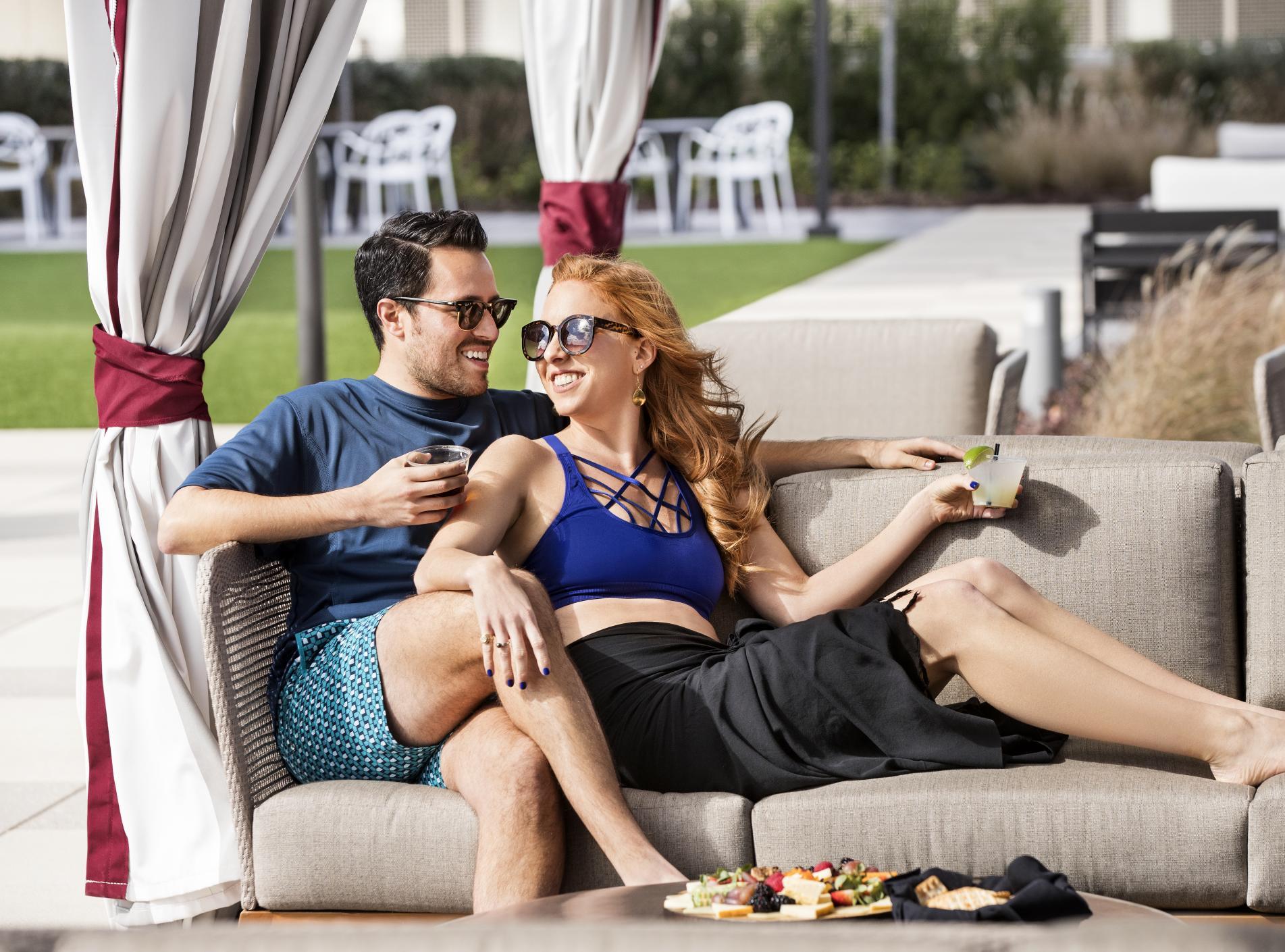 TAMU Hotel Pool Couple