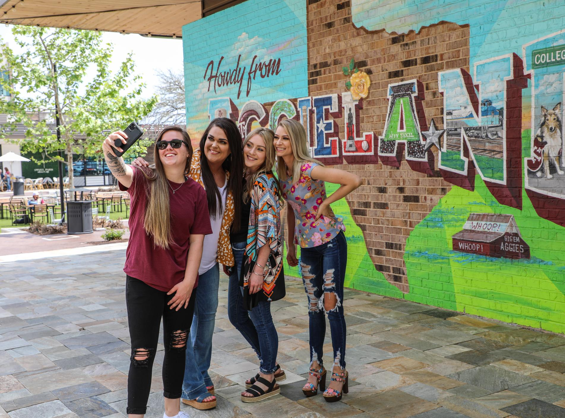 Howdy From Aggieland | Century Square Mural