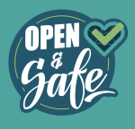 open and safe decal