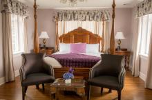 Hotel bed and breakfast room interior