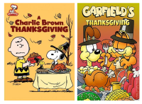 thanksgiving cartoons PAC charlie and garfield