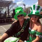 Couple enjoys St. Patrick's Day Festival and Parade