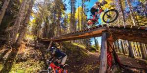 Mountain biking in Angel Fire