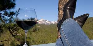 Ruidoso Boots on Rail