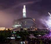 Fireworks at The Canadian Museum for Human Rights