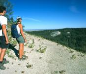 Hikers Enjoying the Escarpment on East Side, Riding Mountain National Park