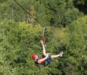 Ziplining in the Pembina Valley