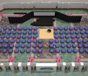 3D Room Setup Renderings - Hawaii Convention Center