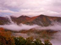 Red Mountains in Fall