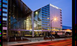 DoubleTree Hotel at night