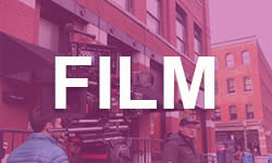 """Film"" on Purple Background"