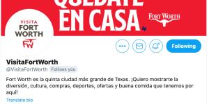 Visita Fort Worth Twitter