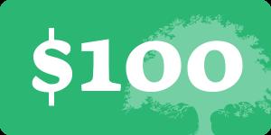 $100 donation button