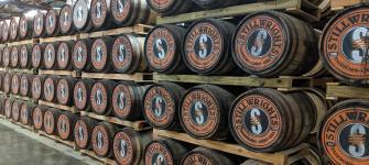Bourbon Barrels at the Stillwrights Distillery