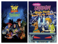 halloween cartoons PAC toy story and scooby