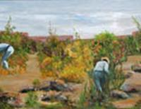 Public art oil painting The Gardeners.