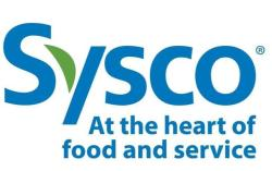 Sysco At the heart of food and service logo in blue